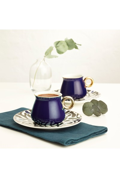 Emsan Armağan Mavi 6lı Kahve Fincan Takımı