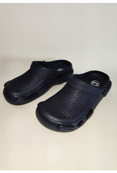 Mert Giyim Lacivert Sandalet Çift Taban Medikal Hastane Terlik