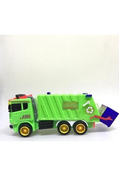 Erbay Oyuncak Çöp Kamyonu Konteynerlı Aksesuarlı Oyuncak Çöp Kamyonu Sürtmeli