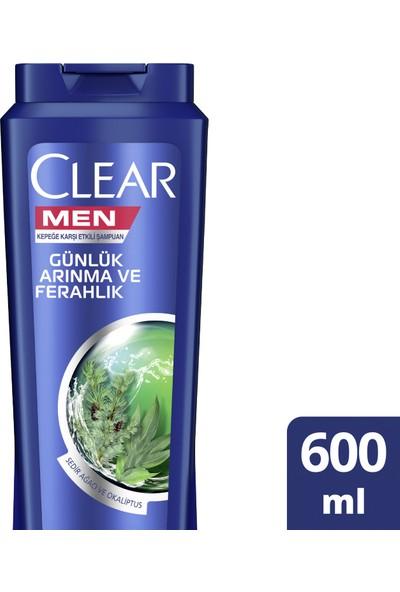 Clear Men Şampuan Günlük Arınma ve Ferahlık 600 ml