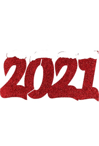 Murat Hediyelik Yılbaşı Süsü 5cm Strafor 2021 Yazısı