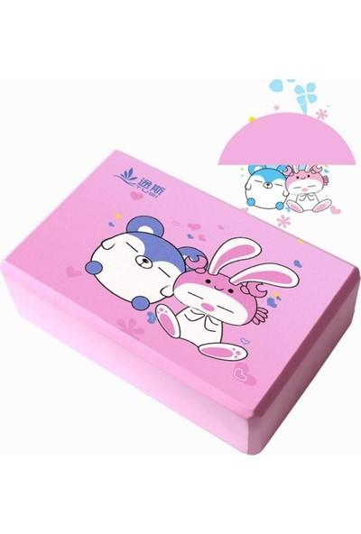 Tusi Yoga Blok Anime Serisi Pembe 23CMX7.5CMX15CM