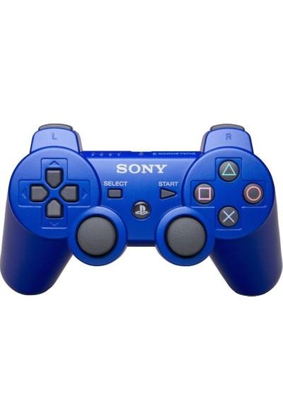 Sony Playstation Ps3 Oyun Kolu Mavi Şarj Kablosu Ile Birlikte