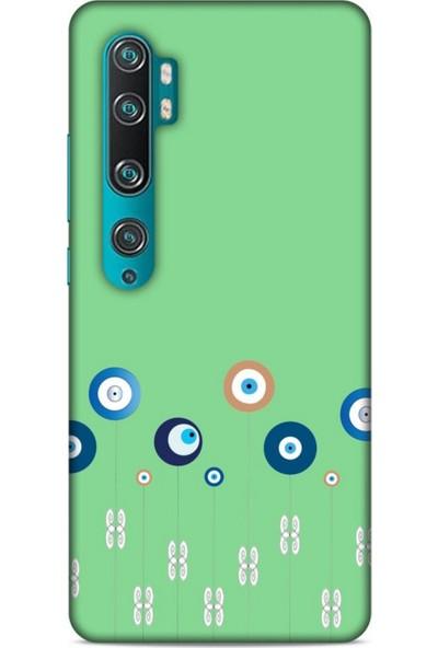 Lopard Nazarium (31) Desenli Silikon Kapak Xiaomi Mi Note 10 Kılıf