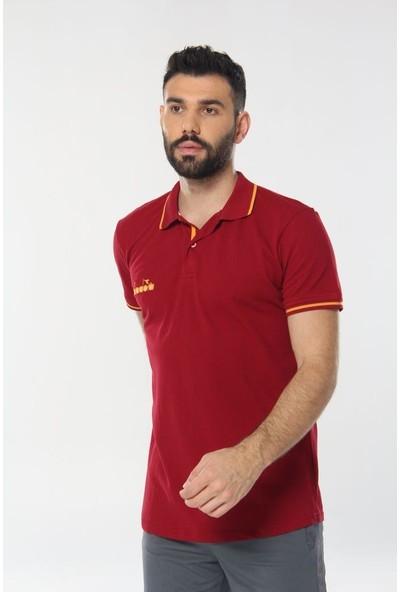 Diadora Liv Kamp Polo T-Shirt Bordo