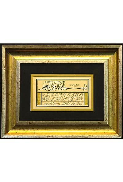 Bedesten Pazar Islami Tablo 35x45 cm Hat Sanatı El Yazması Dekoratif Çerçeveli Ayetel Kürsi