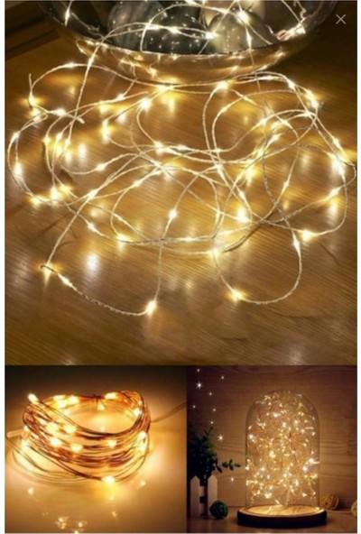 Pazariz 10 Metre Peri LED Çok Amaçlı Yılbaşı Parti Dekoratif Aydınlatma - Gün Işığı