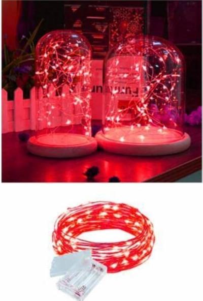 Pazariz 10 Metre Peri LED Çok Amaçlı Yılbaşı Parti Dekoratif Aydınlatma - Kırmızı