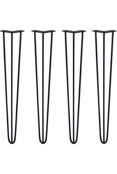 Abronya Firkete Ayak Kütük Komodin Orta Sehpa Metal Masa Ayağı 25 cm 1 Adet
