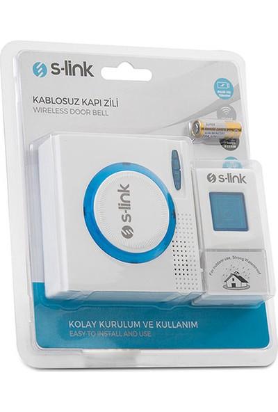 S-Link ZL-145 3xaa Beslemeli 32POL. Melodi Beyaz-Mavi Kablosuz Kapı Zili Beyaz - Mavi