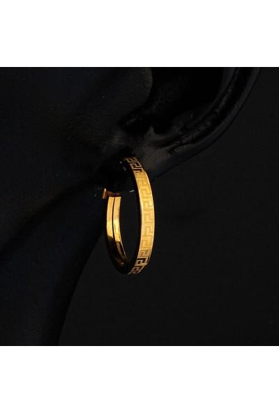 Bilezikci Versage 14 Ayar Maxi Altın Küpe