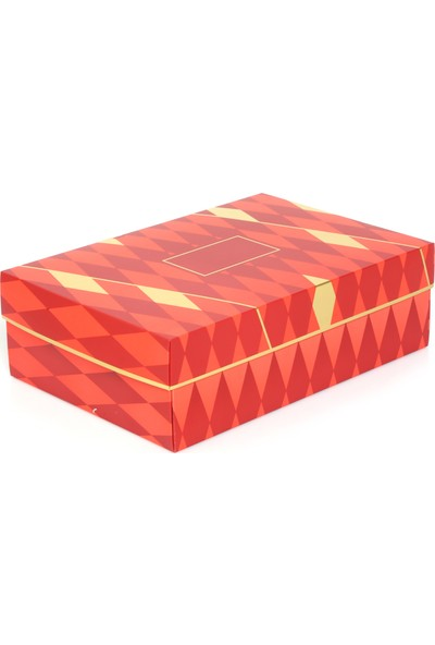 Ambalaj Hikayeleri Yılbaşı Özel Kırmızı Gold Yaldızlı Karton Kutu