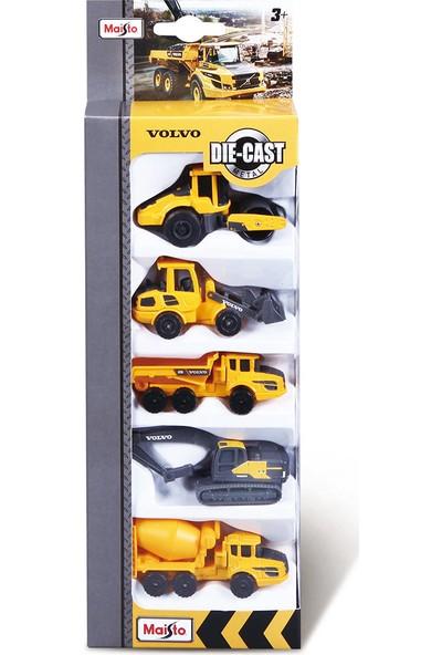 Maisto Volvo 7.5 cm Iş Makinaları 5'li Paket