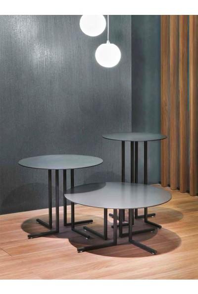 Marlin Home Design Fonix Yuvarlak Orta Sehpa Siyah Büyük