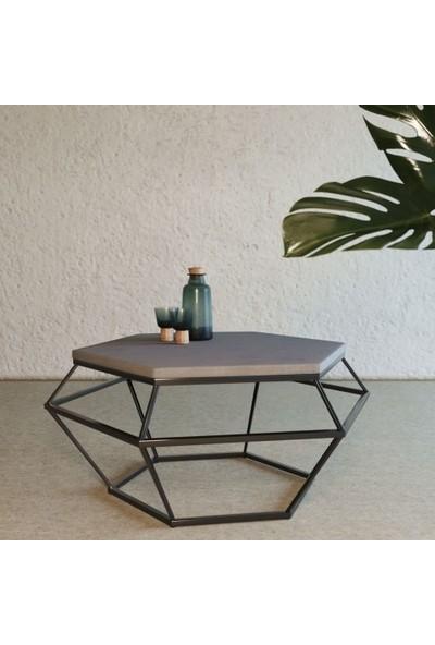 Marlin Home Design Virgo Siyah Metal Orta Sehpa
