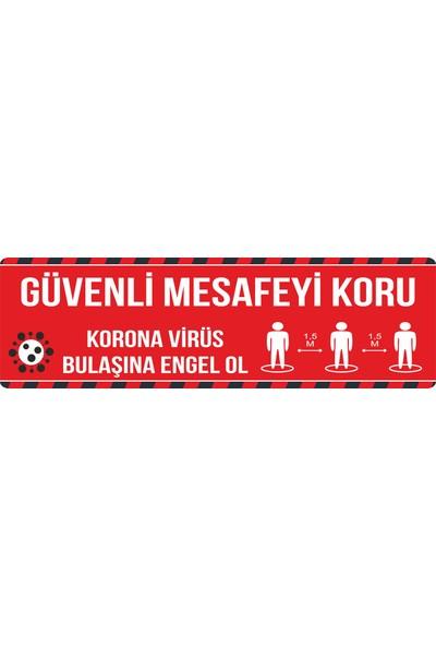Oledya Sosyal Mesafeyi Koruyalım Uyarı Etiketi 4'lü