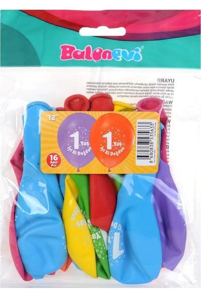 Balon Evi Iyiki Doğdun 1 Yaş Balonu 16 Lı