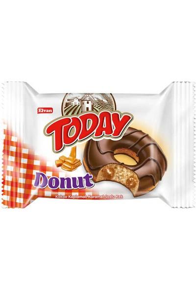 Elvan Today Donut Kek Karamelli 50 gr x 24'lü