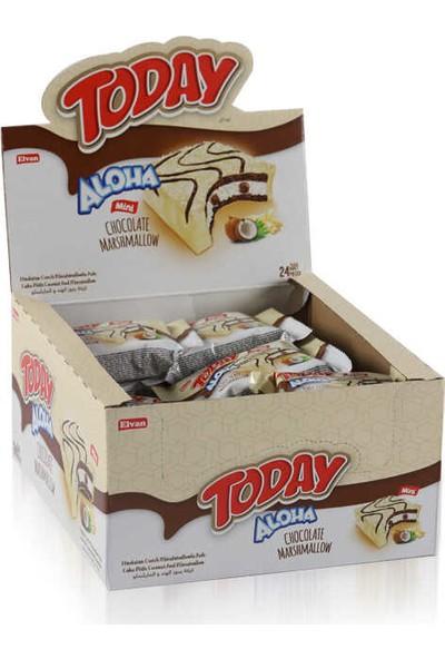 Elvan Aloha Mini Beyaz Çikolatalı Marshmallowlu 25 gr x 24'lü