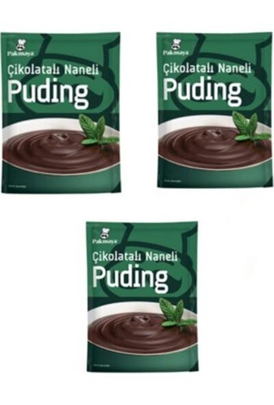 Pakmaya 3'lü Çikolatalı Naneli Puding ( Yeni Ürün )