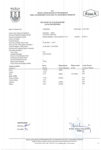 Altunay Karakovan Balı (Doğal Petekli) 1.100 gr