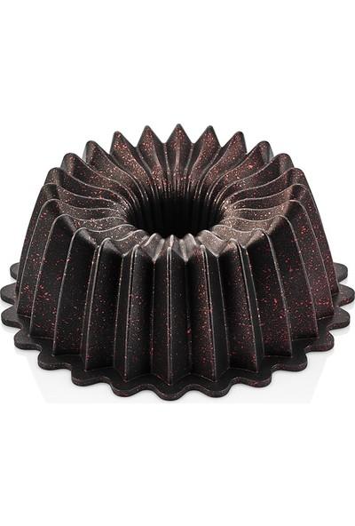 Linanca Star Granit Döküm Kek Kalıbı Blackred 26 cm