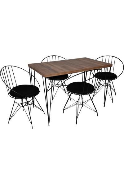 Hedef Mutfak Masa Takımı 4 Adet Panda Sandalye