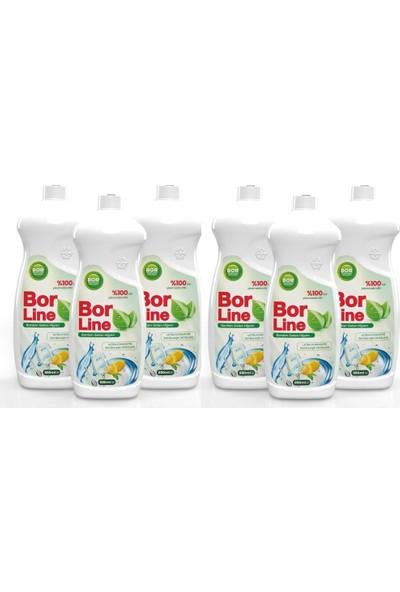 Borline Bor Katkılı 650 ml Bulaşık Deterjanı (6 Adet)