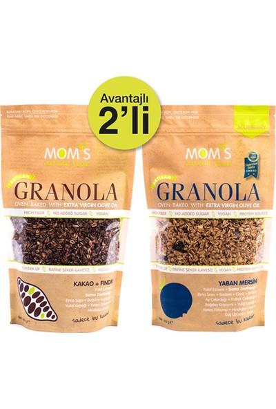 Mom's Natural Foods Ikili Granola Yaban Mersini 360 gr + Kakao Fındık 360 gr