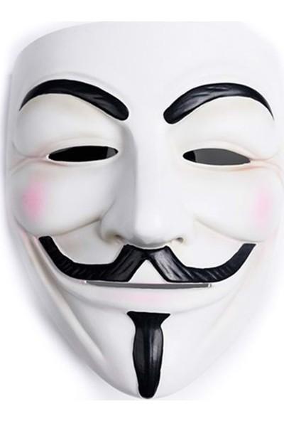 Happyland Vipparty V For Vandetta Beyaz Maske