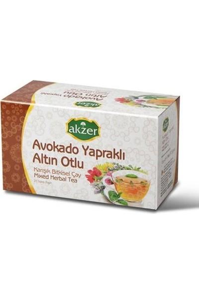 Akzer 3 Adet Akzer Avokado Yapraklı Altın Otlu Karışık Bitki Çayı 180 Süzen Poşet
