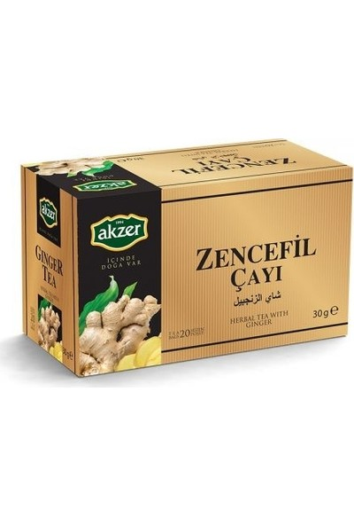 Akzer 2 Adet Akzer Zencefil Çayı 40 Süzen Poşet