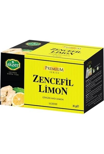 3 Adet Akzer Zencefil Limon Çayı 60 Süzen Poşet