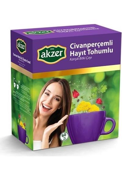 2 Adet Akzer Civanperçemli Hayit Tohumlu Karışık Bitki Çayı 120 Süzen Poşet