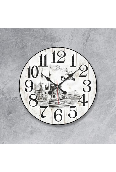 Revello Istanbul Tasarım Bombeli Duvar Saati