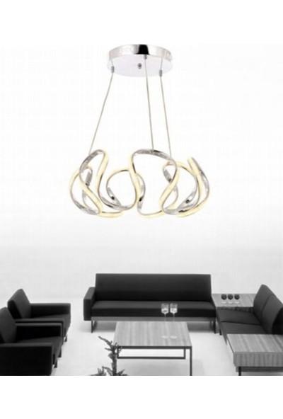 Burenze Luxury Modern Sarkıt LED Avize Krom BURENZE637