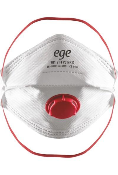 Ege 701 Ffp3 N95/N99 Ventilli Solunum Maskesi - 20 Adet