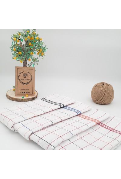 Seyit Ali Bey Seyitalibey   4 Adet 4 Farklı Şerit Rengi   50*70 cm   Mutfak Kurulama Bezi   Geleneksel Kızılcabölük Dokuması
