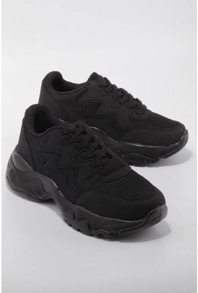Dark Step Kadın Siyah Siyah Günlük Spor Ayakkabı
