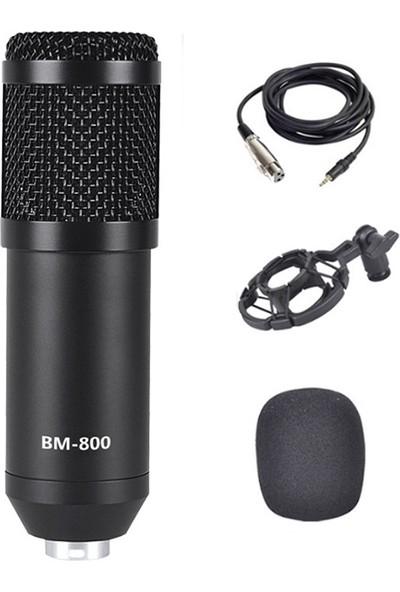 Ally Studio AL-33247 BM800 Condenser Stüdyo Profesyonel Kayıt ve Yayın Mikrofonu