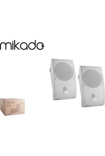 """Duvar Hoparlörü Beyaz 80V 5""""-12.7 cm 2'li Paket Mikado MDK142-5"""