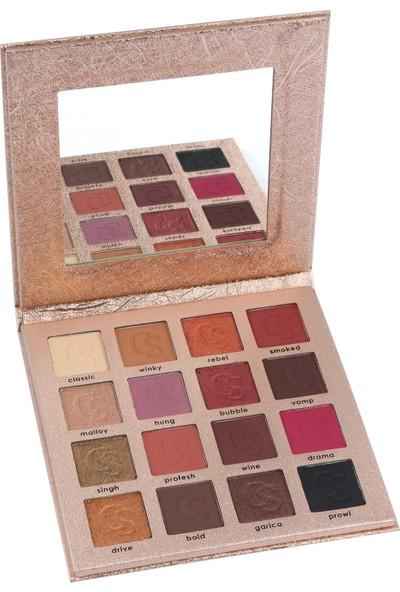 16'lı Göz Farı Paleti - Comely 16 Color Eyeshadow Palette 8681569700079