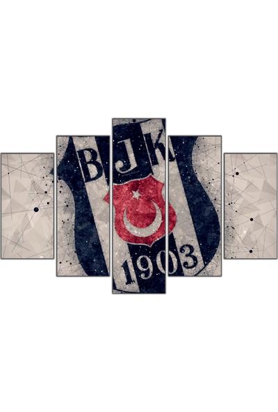 Nirvana Beşiktaş Temalı 5 Parçalı Tablo