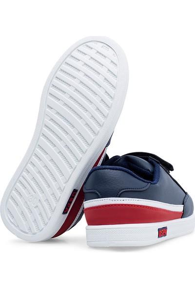 U.S. Polo Assn Jamal 9Pr Günlük Cırtlı Erkek Çocuk Spor Ayakkabı Lacivert