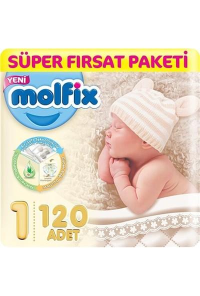 Molfix Bebek Bezi Yenidoğan 1 Beden Süper Fırsat Paketi 120'LI