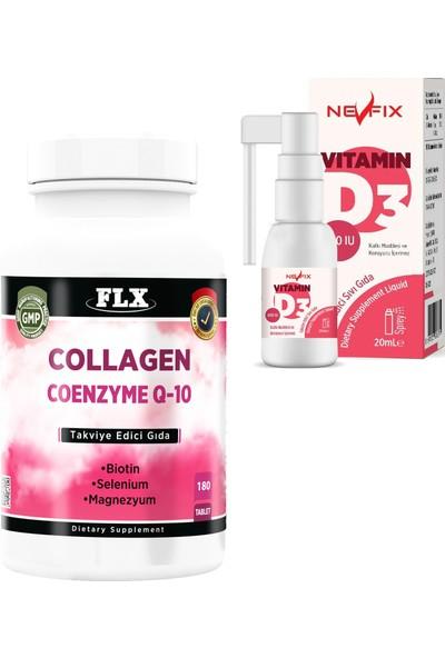 Nevfix Hidrolize Kollajen Koenzim Biotin Selenyum 180 Tablet Nevfix D3
