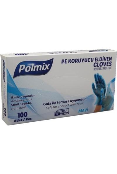 Polmix Poşet Eldiven Mavi Polmix 1 Kutu 100'LÜ