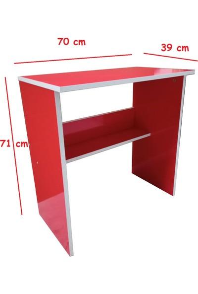 Mihenk Merkür Kırmızı Çalışma Masası Laptop Masası
