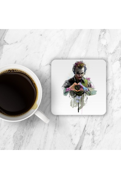 Horizon Baskı Joker Heath Ledger Bardak Altı