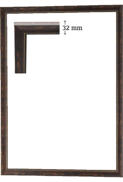 Efor Çerçeve Puzzle Çerçevesi 2000 Parça Eskitme Kahve ( 96 cm x 66 cm )